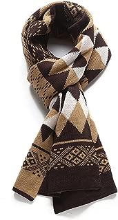 VOGUE CODE Men Argyle Pattern Vintage Warm Scarf Knit Scarf