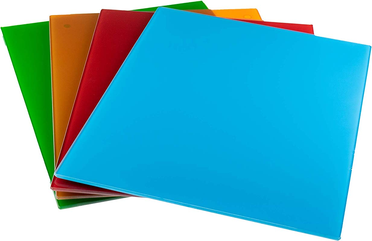 Glass Cutting Board By Clever Chef Non Slip Cutting Board Is Shatter Resistant Durable Stain Resistant Dishwasher Safe 12 X 15 75 Assorted 4 Pack Renewed