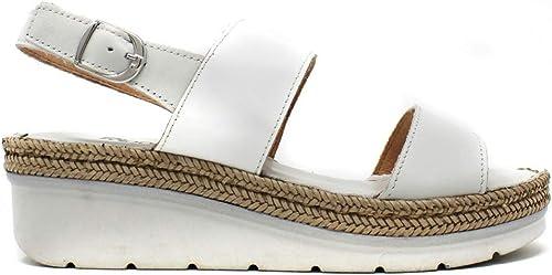 Riposella - Sandalia Confort Doble Tira blancoa