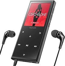 Victure Reproductor MP3 MP4 Bluetooth 4.1 16GB con Botón Táctil Reproductor de Música Digital con Auriculares con Cable, Altavoz Incorporado, Radio FM, Podómetro, Soporte hasta 128 GB,Aleación