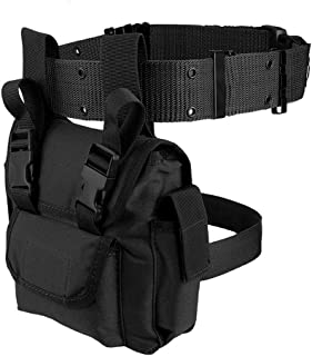 LIVIQILY Tactical Drop Leg Thigh Bag Waist Belt Pack Tool Pouch Waist Pack Motorcycle Sports Hiking Climbing Hunting Equip...