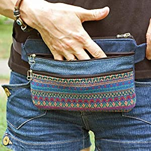 Pocket Waist Bag Women Men, Festival Travel Denim Hip Belt Pouch, Smart Phone Purse, Jeans Fanny Pack Pluse Size (see…