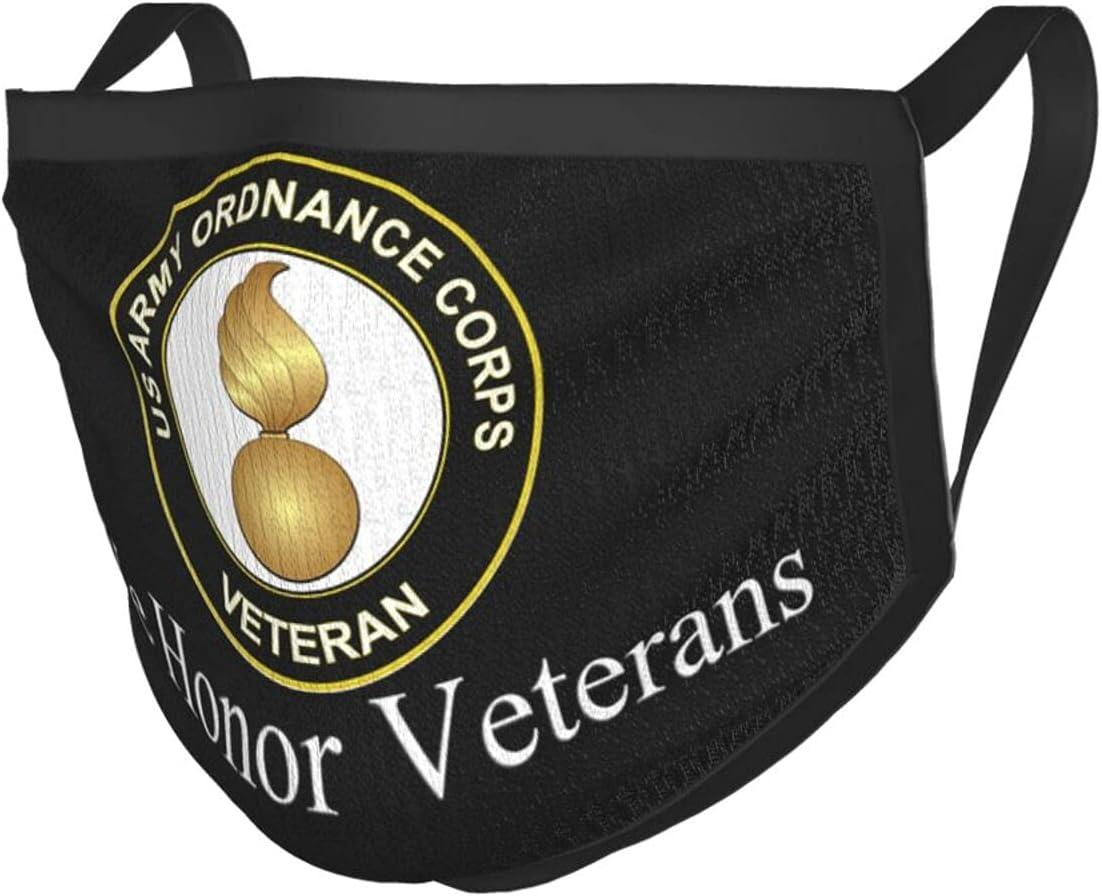 Bazuvir Us Army Veteran Ordnance Border Dealing full price reduction Corps Adult Max 66% OFF Masks Black