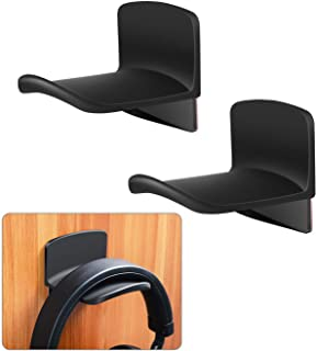Headphone Hanger Hook 2 Pack for Wall & Desk with Protective Silicone Pad, Universal Gaming Headset Mount Holder, Earphone...
