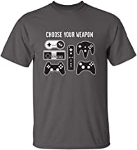 Choose Your Weapon Gamer Novelty Video Games Sarcastic Mens Very Funny T Shirt