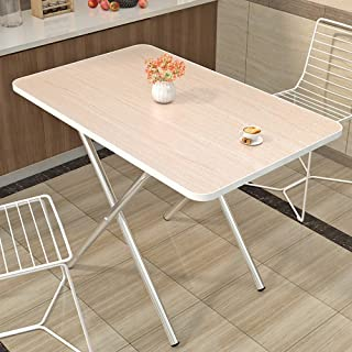TIM Centerfold Folding Table, 6-Feet, for camping study eating storage White - CLDNBM09 (Elegant wood grain, 60X40cm)