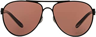 Oakley Women's Disclosure OO4110-04 Polarized Aviator Sunglasses, Polished Black, 58 mm