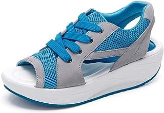 Donne Scarpe da Ginnastica Sportivo Mesh Respirabile Lacci Sneakers da Corsa Air Cushion 35-42 EU Donna Scarpe da Running ...
