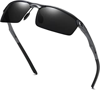 a2761a5955 FREE Shipping on eligible orders. Duco Men s Sports Style Polarized  Sunglasses Driver Glasses 8550 Gunmetal