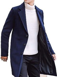 [ベンケ] コート メンズ チェスターコート 薄手 春 秋 ウール ロング ジャケット スリム 無地 ビジネス 紳士服 M~2XL