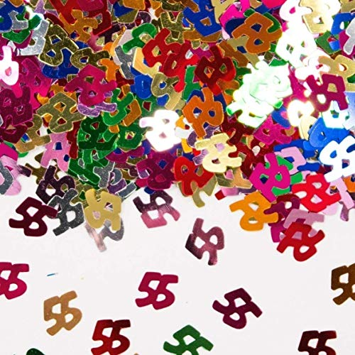 Folat - tafelconfetti getal Cijfer 55 12 x 14 g. multicolor