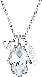 Elli Women's 925 Sterling Silver Talisman Crystal Necklace