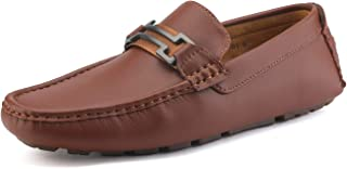 Bruno Marc Moda Italy HUGH-01 Men's Classy Fashion On The Go Driving Casual Loafers Boat Shoes Brown Size 7