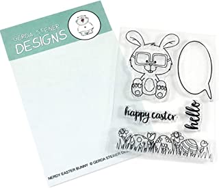 Nerdy Easter Bunny Clear Stamp Set 3x4 Inches