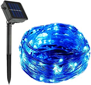 YXZQ Solar Copper Wire Lights, 200 LEDs 72ft/22M Outdoor Starry Lights Waterproof for Garden,Yard, Path, Fence, Stairs, Ba...