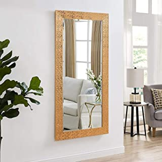 Creative Arts n Frames Long Full Length Fiber Wood Framed Wall Mirror with Multipurpose Shelf (21 x 40-inch, Vibrant Copper) (Coppr)