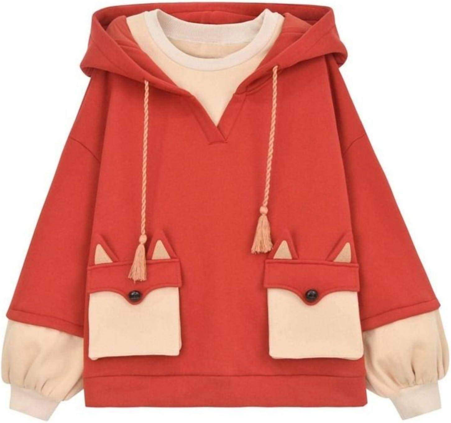 NC Harajuku Anime Hoodie Women Korean Kawaii Oversized Streetwear Kpop Fall Winter Christmas Couple Clothes Tops