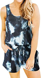 Womens Summer Jumpsuit Tie Dye