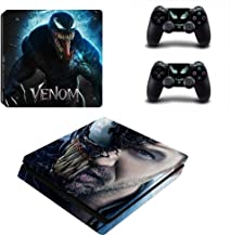 Homie Store PS4 Pro Skin - Ps4 Skins - Ps4 Slim Sticker - Venom Skin for Playstation 4 PS4 Slim Custom Design Sticker for Console Controller Cover Play Station 4 Slim Vinyl Decals