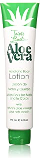 Triple Lanolin Aloe 6 Ounce Hand & Body Lotion Tube (177ml) (2 Pack)