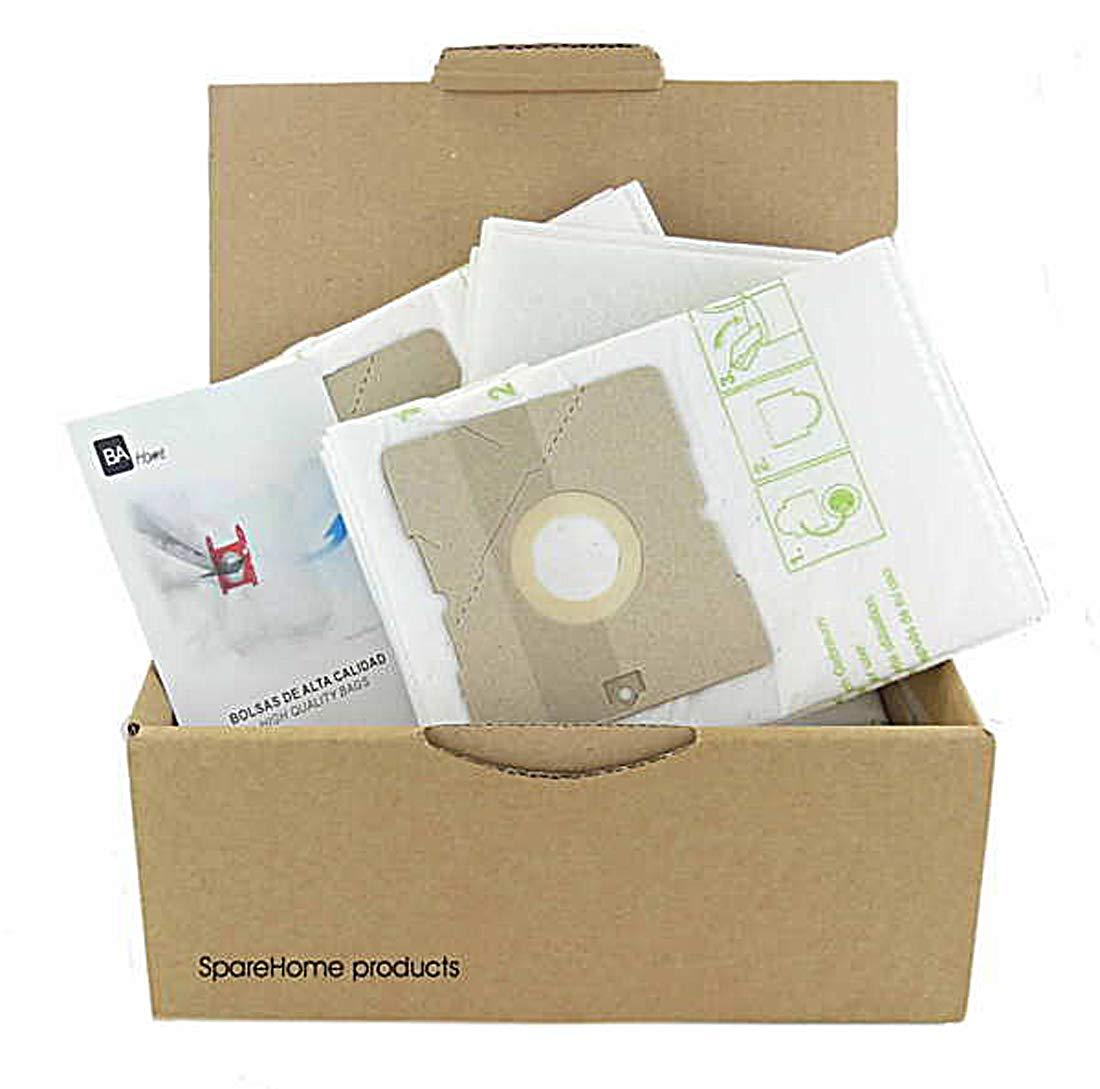 SpareHome 10 Bolsas + 2 microfiltros recortables para Aspirador ...