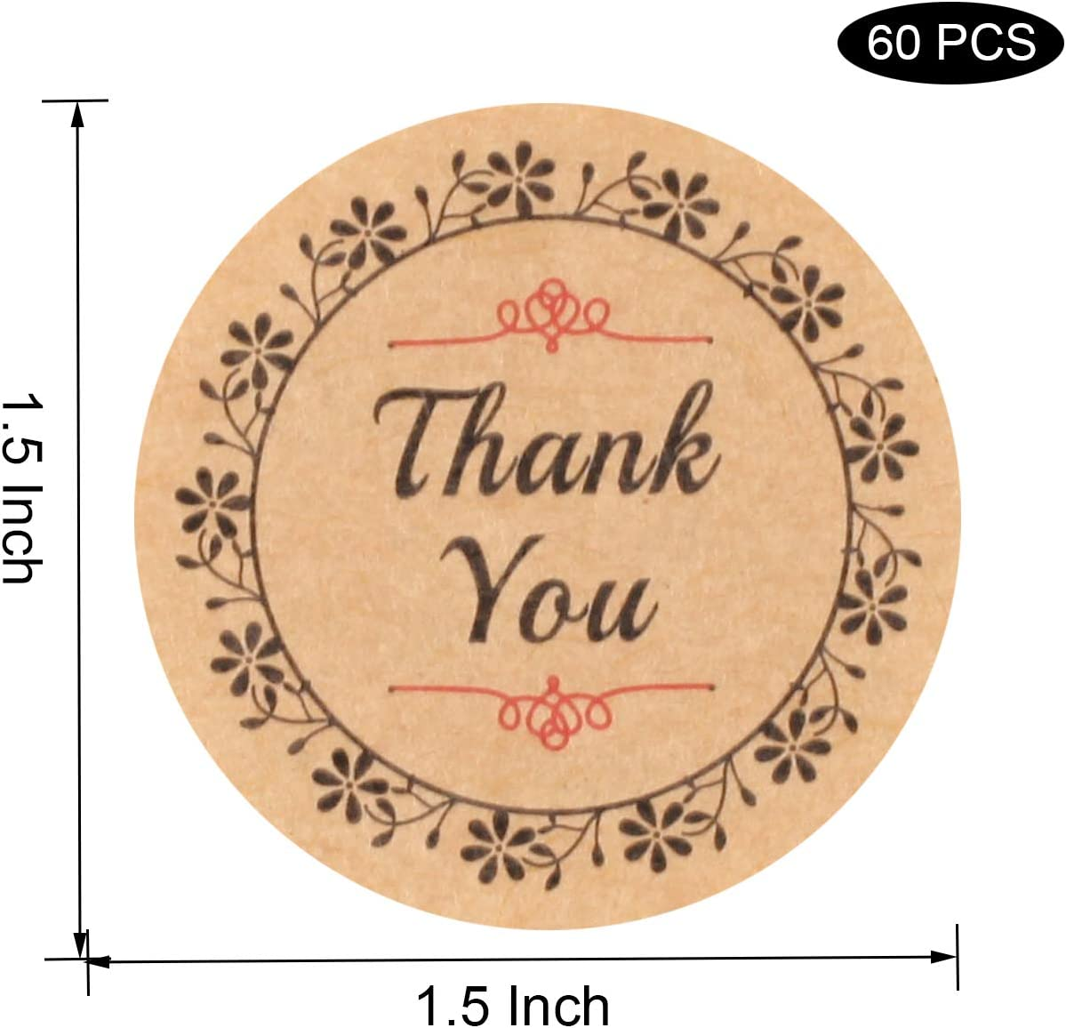ANYI16 Self Adhesive Treat Bag Cellophane Cookie Bag Sealing Treat Bag White Polka Dot Party Favor Gift Bag with 60 Thank You Labels for Bakery 3.9 x 3.9 inches, 100 Pcs Cookie Candle Soap