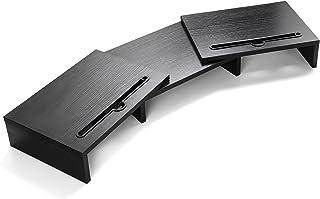 LORERGO Monitor stand Houten Met verstelbare lengte en hoek Extra functionele Slot Monitor Riser Desktop Organizer Stand v...