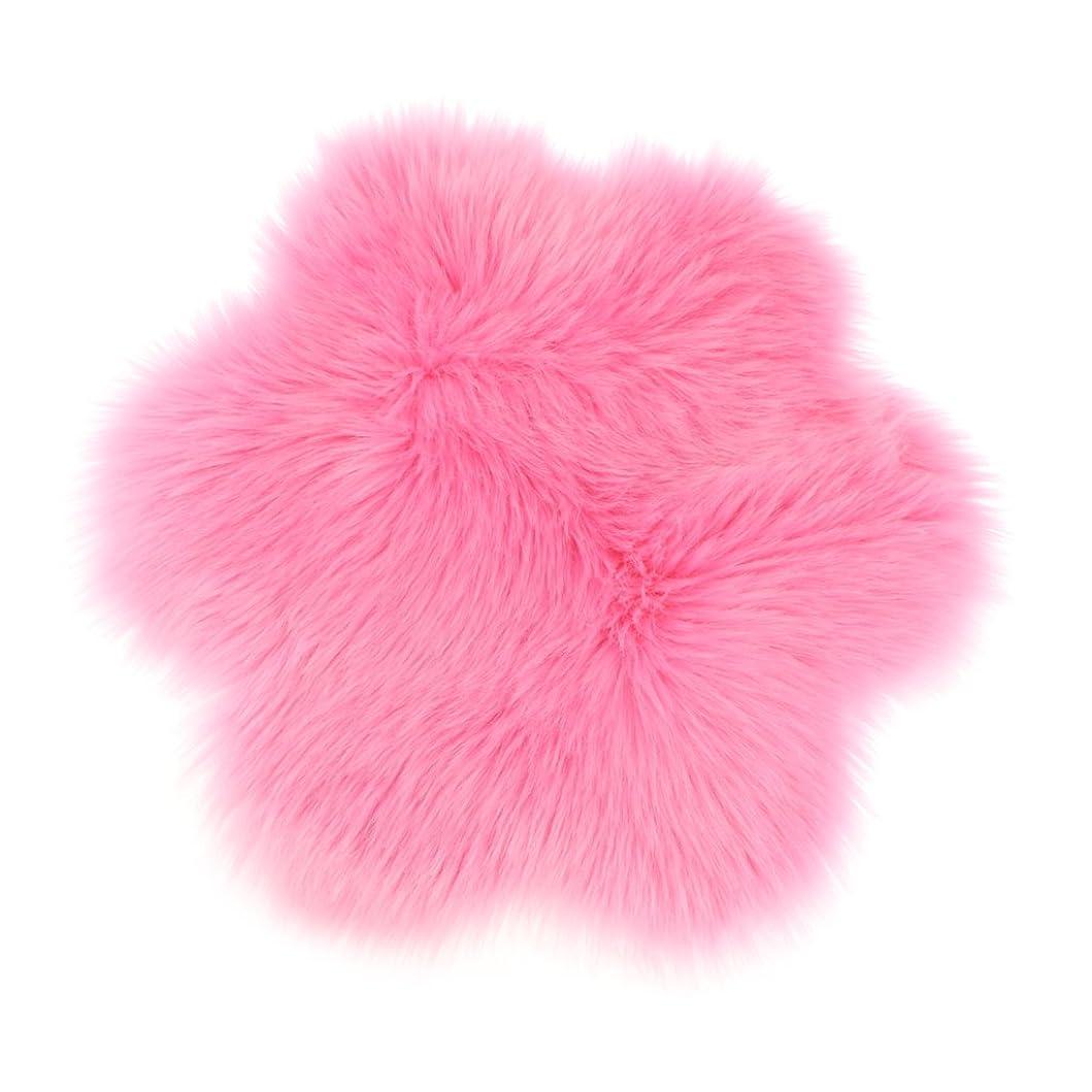 日曜日コンサルタントかもしれないGRALARA 多種類選べる 花型 ふわふわ マット シャギー エリアラグ シート ファッション クッション フロアマット 子供 遊び マット - ピンク