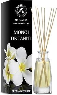 Diffuseur Arôme Monoï de Tahiti 100ml - Diffuseur à Roseau - Parfum Ambiance - Désodorisant - Diffuseur Parfumé Monoï de T...