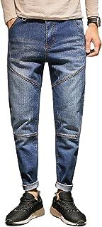 YFFUSHI メンズ デニムパンツ ジーンズ ロングズボン ロング丈 綿 水洗い ズボン カジュアル お洒落 ストレッチ