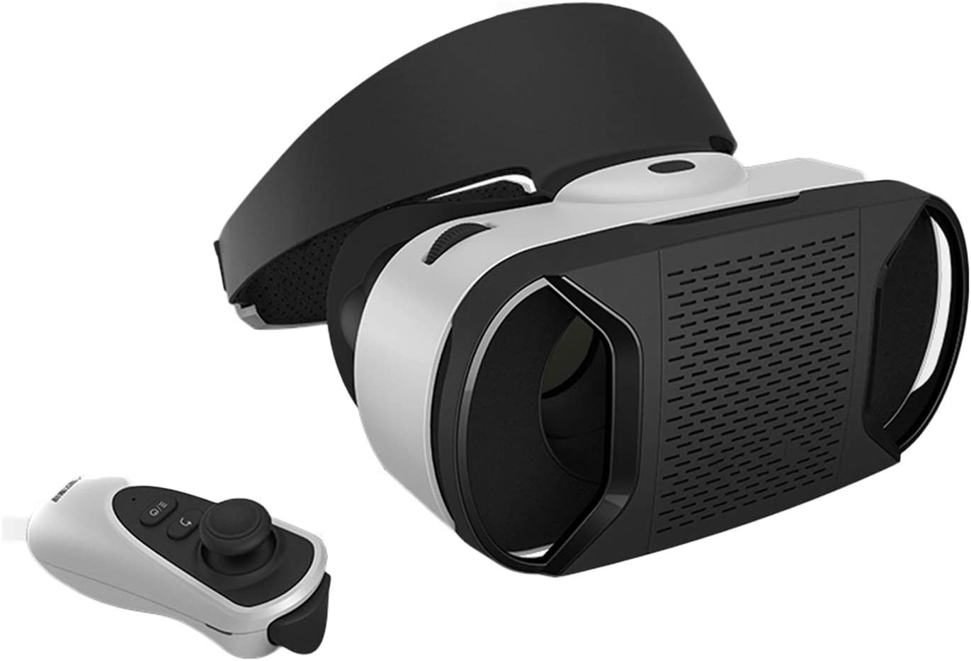 JYMENLING YANJINGYJ VR Headset, Reality Virtual Goggles, 3D VR Glasses, All-in-one VR Games Headset, Compatible with iPhone Android Phone Comfortable Compatible 4.7-5.5 (Color : Black)