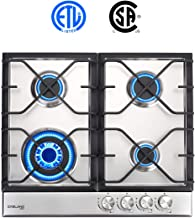 "24"" Built-in Gas Cooktop, GASLAND Chef GH60SF 4 Burner Gas Hob, 24 Inch NG/LPG Convertible Natural Gas Propane Cooktops, H..."