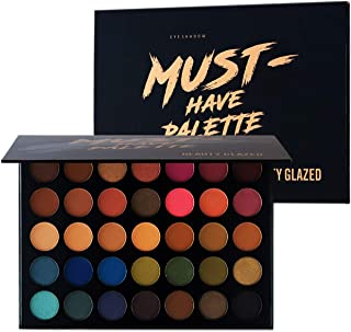 Beauty Glazed Make Up Eyeshadow Palette 35 Colors Blendable Chunky Pigmented Matte and Shimmer Pop Colors Eye Shadow Powder Waterproof Eye Shadow Palette Cosmetics Christmas Gifts