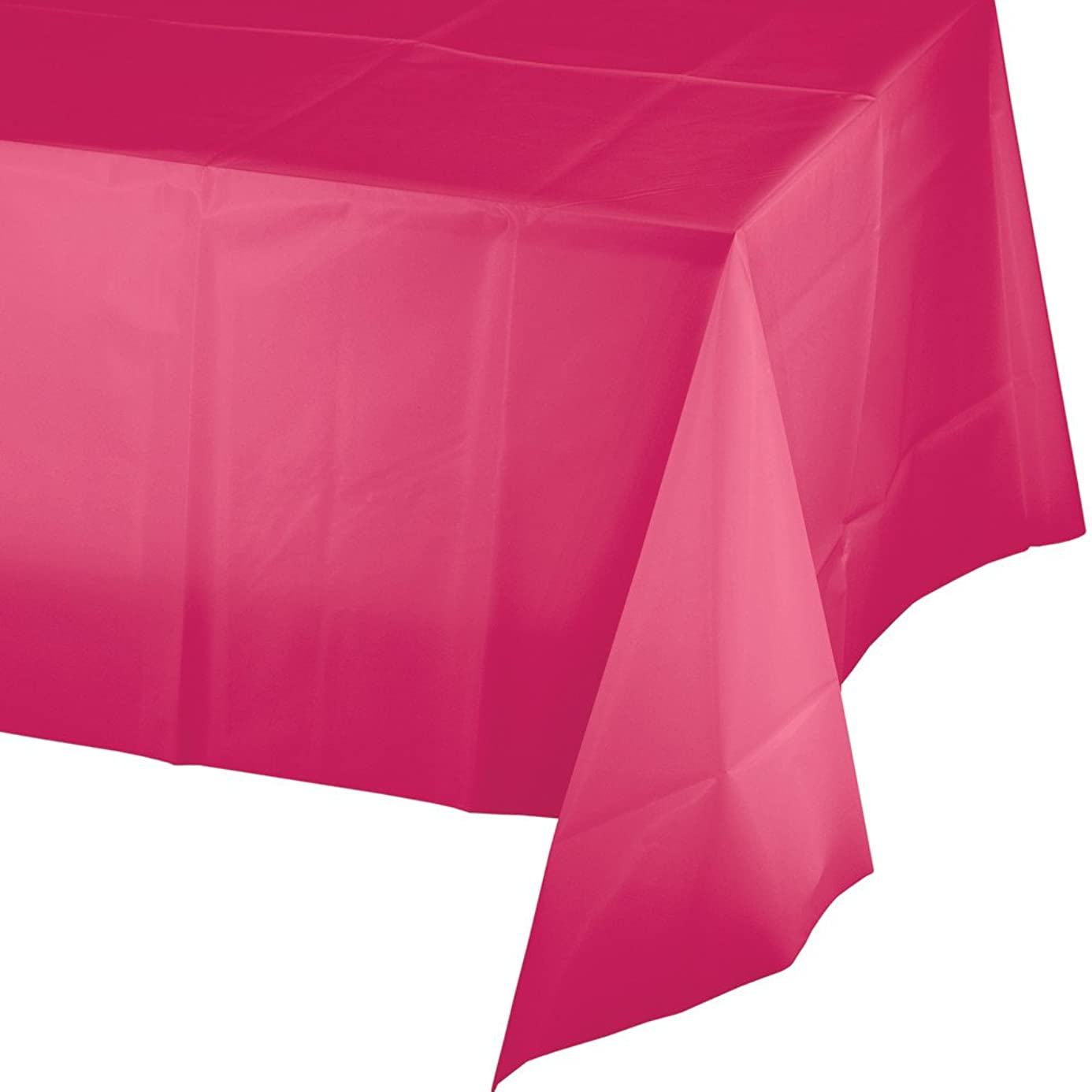 Creative Converting 12 Count Touch of Color Plastic Banquet Table Covers, Hot Magenta ixi1059484