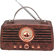 Retekess TR607 Vintage Radio Retro Bluetooth Speaker Portable FM Stereo Radio Bluetooth 4.2 Wireless Connection Handsfree Support TF Card USB AUX