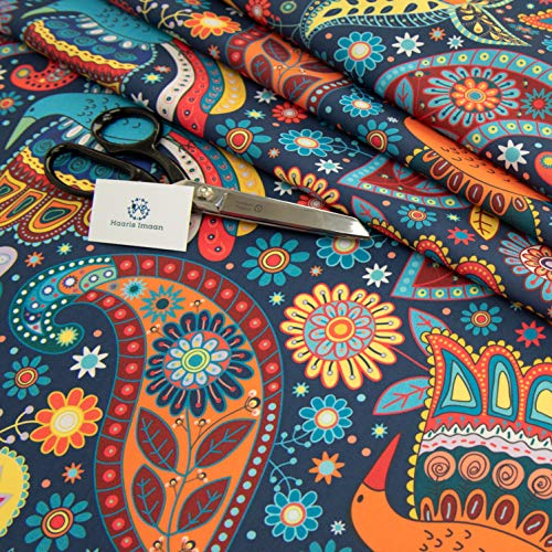 Haaris Imaan Ethnic Collection Printed Water Resistant Upholstery Fabric 1 Metre, Chennai