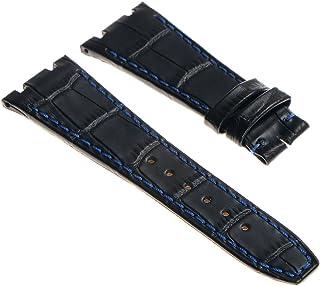 90eac62d2 DASSARI 28mm Crocodile Embossed Leather Watch Band Strap for 44mm AP  Audemars Piguet Royal Oak Offshore