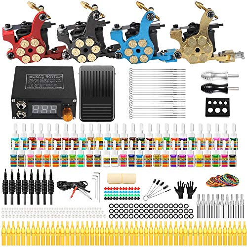 Solong Tattoo Complete Tattoo Kit 4 Pro- Best Professional Tattoo Kits