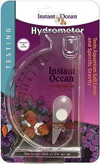 Instant Ocean Aquarium Water Test Hydrometer, Marine Salt & Gravity Lavel Testing Scale