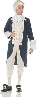 Mens Black Tricorn Hat Renaissance Costume Founding Fathers Tri-Corn Gold Adult