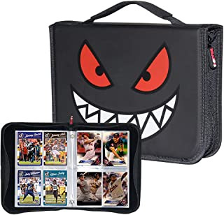 Brappo Card Holder Book Carrying Case for Baseball Trading Cards, Holder Album Binder Compatible with 20 Premium 4-Pocket Pages, 320 Cards