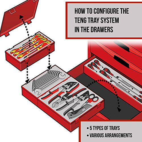 Teng Tools 8 Piece Adjustable C Type Hook and Pin Wrench/Spanner Set - TTHP08