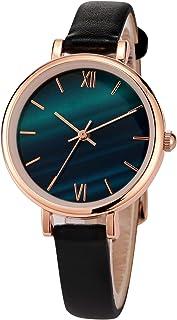 Relojes para Mujer Reloj de Cuero para Mujer Reloj con Correa de Cuero Negro o Blanco para Mujer Relojes de Cuarzo analógi...