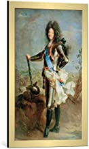 Kunst für Alle Cuadro con Marco: Hyacinthe Rigaud Louis XIV of France H Rigaud - Impresión artística Decorativa con Marco, 45x70 cm, Dorado Cepillado