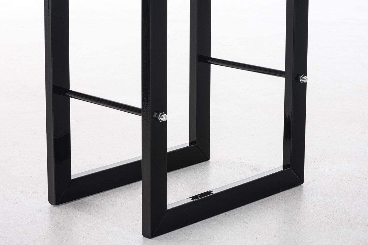 CLP Keri V2 Exclusive Log Holder in/Metal Up to 8/Sizes and 2/Colours to Choose From 40 x 25 x 100 cm black