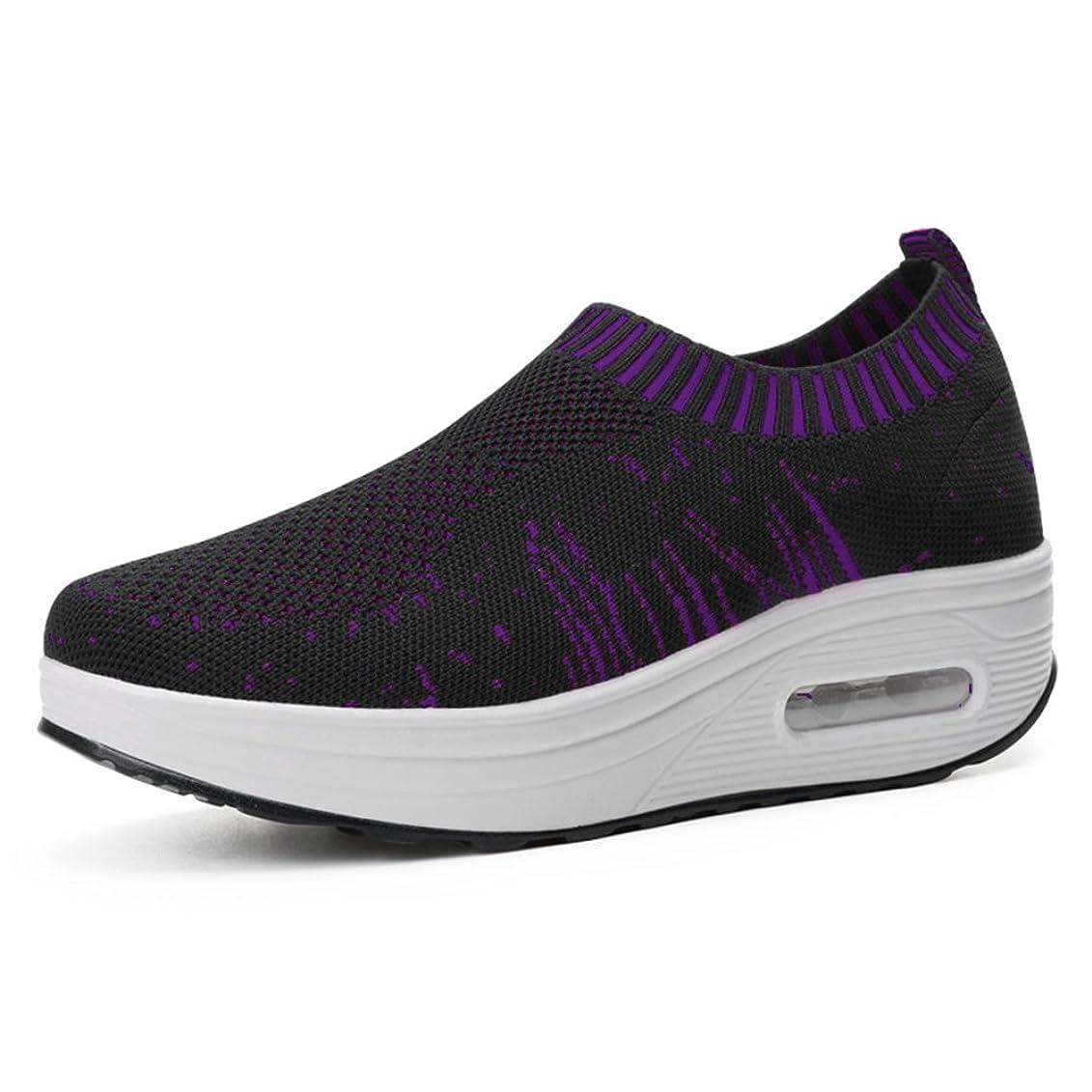 疲労ふける寝室を掃除する[EIMEI] レディース ウォーキングシューズ 矯正靴 ランニング ダイエット 厚底5cm 歩行姿勢調整 安全 健康靴 スニーカー ニット