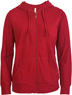 red zipper hoodie women's
