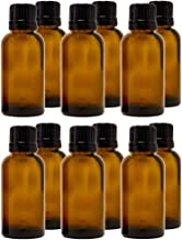 30 ml (1 fl oz) Amber Glass Bottle with Euro Dropper (12 Pack)