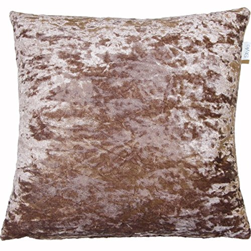 Supplied by Maple Textiles LUXURIOUS VELVET CUSHION COVER CHAMPAGNE MINK LARGE to fit 24' X 24' pad (60cm x 60cm) t