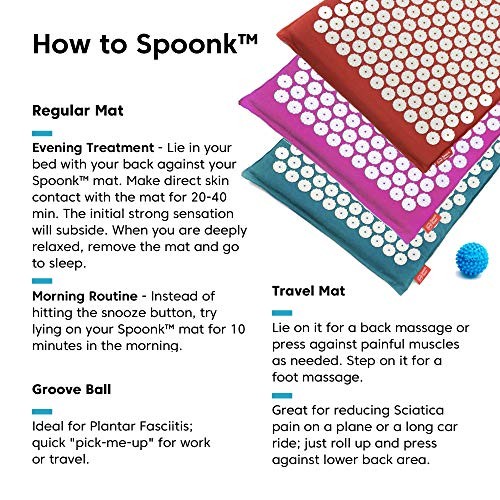 Spoonk back pain and sleep induction acupressure mat